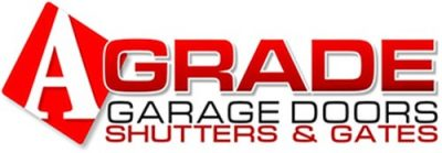 a grade garage doors and shutters logo