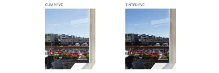 clear and tinted PVC