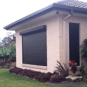black window roller shutter