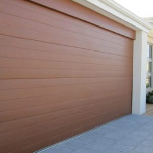 Perth brown sectional garage door