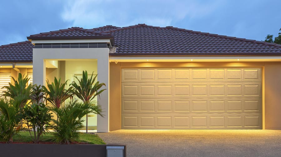white sectional garage door in Perth