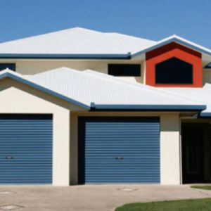 blue home roller doors in Perth