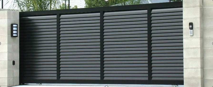 black Automated home gate in Perth